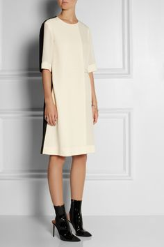 Stella McCartney|Folded two-tone silk crepe de chine dress