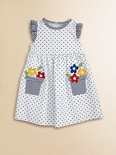 Florence Eiseman Toddler's Dotted Flower Pot Dress