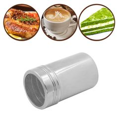 Stainless Steel Chocolate Sugar Shaker Cocoa Flour Coffee Sifter Powder Tank New