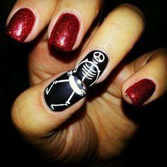 skeleton nail job