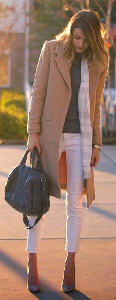 White Distressed Cuffed Denim Jeans