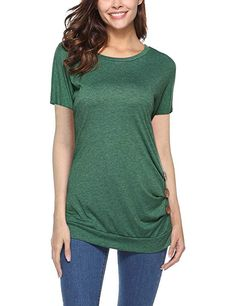 Casual Women O-neck Short Sleeve Buttons Decorated T-shirts look chipper and natural. NewChic has a lot of women T-shirts online for your choice, believe you will find your cup of tea Mobile. Bridesmaid Jewelry Sets, Online Shopping For Women, T Shirts For Women, Clothes For Women, Casual Shirts, Women's Casual, Tee Shirts, Tshirts Online, Plus Size Fashion