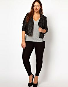 New Look Inspire Basic Legging Less than $20!!  I'm nervous about a legging, tight clothes are not my friend, but with the right shapewear or a belly covering tunic.... these might be comfortable for home with Claire.