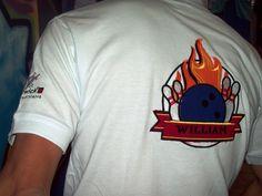 Bordado personalizado con apliques de tela para camiseta de Bolos