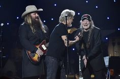 Embedded image Chris Stapleton, Willie Nelson, Kris Kristofferson, Kacey Musgraves, 75th Birthday, Madison Square Garden, What Is Life About, John Lennon, Riding Helmets