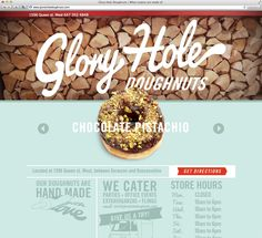 Glory Hole Donuts web design