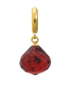 Endless Jewelry Jennifer Lopez Collection Yellow 18 Karat Plated Ruby Love Drop Charm made with a ruby colored crystal
