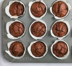These are also dairy free and make the perfect treat for breakfast or as a snack. Healthy Muffins, Healthy Sweets, Gluten Free Desserts, Gluten Free Recipes, Sin Gluten, Muffin Recipes, Breakfast Recipes, Triple Chocolate Muffins, Paleo
