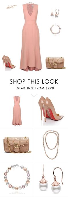 """""""Untitled #1890"""" by doris610 ❤ liked on Polyvore featuring Rebecca Vallance, Christian Louboutin and Gucci"""