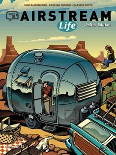 airstream life cover photo with station wagon - rugged yosemiterugged yosemite Retro Campers, Cool Campers, Happy Campers, Vintage Campers, Rv Campers, Vintage Rv, Vintage Airstream, Vintage Travel Trailers, Vintage Posters
