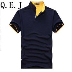 7f75e70bb052d Q.E.J New 2016 Brand Solid Color Stand collar polo Shirt Summer Men Casual  Short sleeve Slim Fit Men Polo Shirt Clothing-in Polo from Men s Clothing  ...
