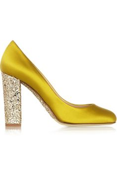 J.CREW Collection Etta glitter-embellished satin pumps - SO FUN!