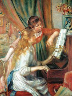"""Renoir, """"Fanciulle al piano"""", 1889."""