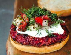 Louisa Shafia's Sweet and Smoky Beet Burgers