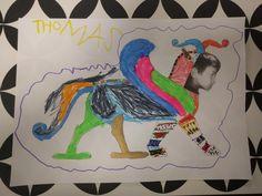 Un petit tour en Mésopotamie avec les Picchus : on a fait nos propres griffons! D'abord en coloriant un dessin, puis en créant notre propre chimère (Ticopent : Tigre, Crocodile et Serpent)! Griffons, Serpent, Tour, Crocodile, Protohistory, Drawing Drawing, Crocodiles