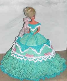 CROCHET FASHION DOLL PATTERN-#583 COTILLION BALL GOWN #3 #ICSORIGINALDESIGNS