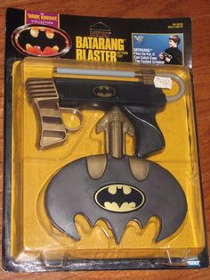 vintage 90s batman dark knight batarang blaster toy gun weapon 1990 kenner nip from $69.99