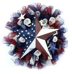 Americana Deco Mesh Wreath by CreativeGiftPack, via Flickr