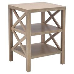 Owings End Table with 2 Shelves - Threshold™ : Target