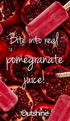 When we asked ourselves how we could make our Outshine Pomegranate Bars even more refreshing, the answer was easy: Make them with more real fruit juice than ever before. Taste it for yourself!