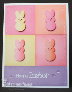 YNS Fun Friday Challenge card by Maureen Wong using Easter Whatnot Die Set, Happy Day Sentiments