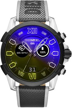 Orologio Uomo Diesel On Full Guard Smartwatch - Crivelli Shopping Best Smart Watches, Cool Watches, Smartwatch, Diesel Watches For Men, Band Workout, My Husband Birthday, Online Watch Store, Heart Rate, Black Nylons
