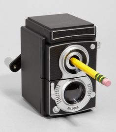"Vintage Camera Pencil Sharpener - your desk will never look so ""vintage"". :) The 20 Cutest School Supplies for Back-to-School 