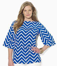 Lauren Ralph Lauren Woman Chevron Silk Tunic #Dillards