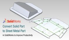 Convert Solid Part to Sheet Metal Part in SolidWorks to Improve Productivity - Convert Solid Part to Sheet Metal Part in SolidWorks to Improve Productivity Informationen zu Conver - Metal Sheet Design, Sheet Metal Work, Pliage Tole, Metal Furniture, Furniture Vintage, Furniture Design, Industrial Furniture, Table Furniture, Mechanical Engineering Design