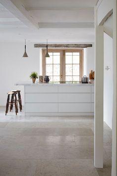 grey limestone floor tiles for hallway flooring | atlanta
