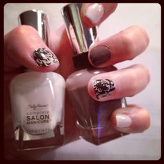 variation on accent nail look