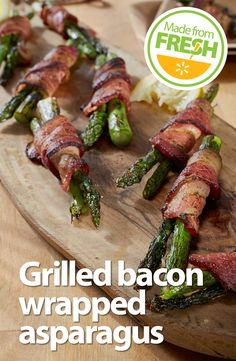 Make an impression at your next cook- out. This tender fresh asparagus wrapped in crispy bacon will have your guests coming back for more. Find these fresh ingredients at your local Walmart. Grilling Recipes, Vegetable Recipes, Paleo Recipes, Great Recipes, Cooking Recipes, Favorite Recipes, Grilled Bacon Wrapped Asparagus, Fresh Asparagus, Grilled Veggies