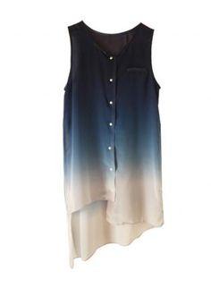 Blue Ombre Sleeveless Top