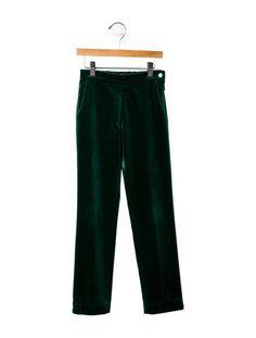 Oscar de la Renta Girls' Velvet Pants
