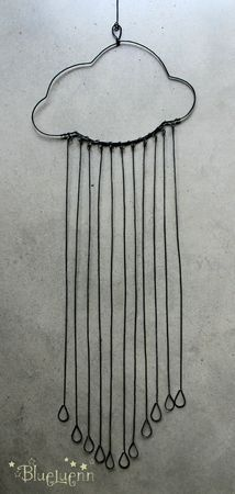 wire necklace inspiration!  rain cloud...