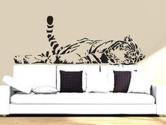 Wall Decal Vinyl Sticker Decals Art Decor Design  Tiger Lion Leopard Panter Animals  Nature Wild Cat Fashion Bedroom Dorm (r810)