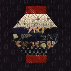 Japanese Embroidery Kimono Here are two more blocks for my Japanese quilt. I must admit that the closer I got to the last few blocks, the harder it was to come up wi. Sashiko Embroidery, Japanese Embroidery, Hand Embroidery Patterns, Embroidery Thread, Embroidery Designs, Embroidery Supplies, Machine Embroidery, Eyebrow Embroidery, Zentangle Patterns