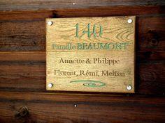 ArtNum3D Enseigne en bois, plaque de porte personnalisée