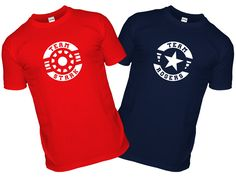 Where does your loyalty lie during the Civil War, Team Stark or Rogers T-shirt? Team Iron Man or Team Captain America?