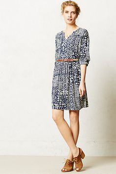 Love the tribal-inspired print of this. With a  blazer for work, and comfy flats and a hat for brunch.