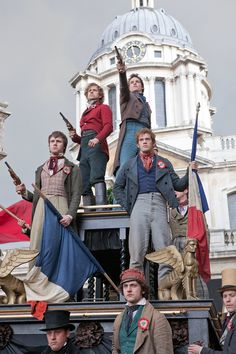 Enjolras, Marius, Joly, Prouvaire, Grantaire and Feuilly. <3 Babies! (Still can't get over Feuilly's ridiculous straw top hat)