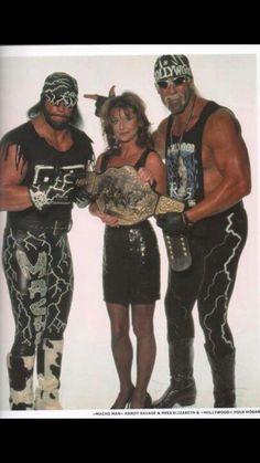 """""""Macho Man""""  Randy Savage, Elizabeth,  Hulk Hogan in the NWO"""