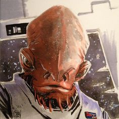 Star Wars - General Ackbar by Mike Henderson *