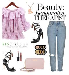 """""""YesStyle Polyvore Group """" Show us your YesStyle """""""" by sabinakopic ❤ liked on Polyvore featuring DaBaGirl, Topshop, Queen Bee, Maybelline, MICHAEL Michael Kors, party, anniversary, celebration and yesstyle"""