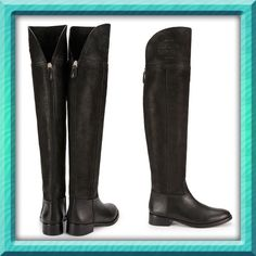 """Authentic Tory Burch Over the Knee Boot DETAILS & FIT 1.39"""" (3.5 cm) stacked wood heel Suede and distressed leather upper Foldable upper cuff with embossed double-T logo Back zipper closure with leather pull Jacquard fabric lining Leather and rubber sole. Comes with a box and dust bag.Very True to size‼️ Very beautiful and classy Tory Burch Shoes Ankle Boots & Booties"""