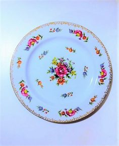 Vintage Floradel Adline China Plate Set by MaidenLongIsland