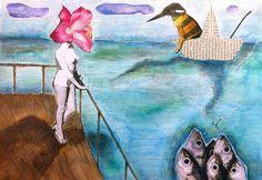 Tiziana Solito - Incanto. Collage, ecoline, markers.
