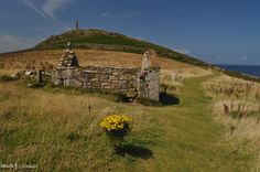 Remains of St Helen's Oratory, dating from the Dark Ages, on Cape Cornwall.