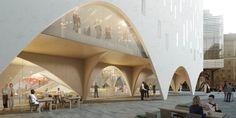 Floating Architecture, Arch Architecture, Architecture Diagrams, Architecture Portfolio, Facade Design, House Design, Airport Design, Shop Facade, Mix Use Building