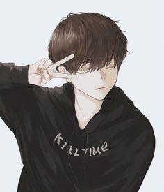Ney (@cognacbear) / Twitter Anime Neko, Chica Anime Manga, Kawaii Anime, Anime Art, Hot Anime Guys, Cute Anime Boy, Anime Boys, Dark Anime, Aesthetic Art